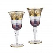 """Набор для вина """"Корсика"""", 2 бокала фиолетовый"""
