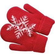 """Варежки """"Сложи снежинку!"""" с теплой подкладкой Красный"""